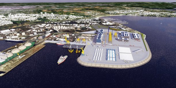 A l'horizon 2020, le terminal industrialo-portuaire de Brest aura fait peau neuve. L'aménagement de 40 hectares sur un polder grand comme 50 terrains de football, a notamment comme objectif de lui ouvrir un nouveau terrain de jeu : l'accueil d'activités (stockage, assemblage...) liées aux énergies marines renouvelables.