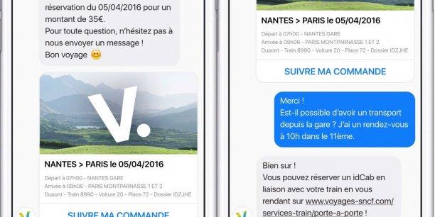 Les chatbots, ou robots conversationnels comme celui de Voyages-SNCF, sont appelés à devenir le nouveau standard de la relation client.