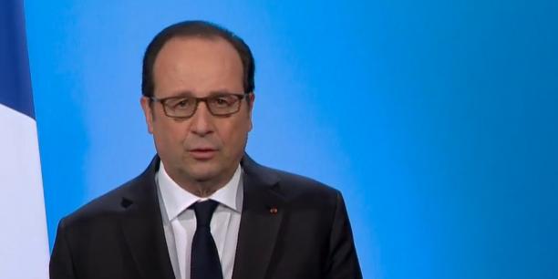 François Hollande lors de son allocution, jeudi 1er décembre.