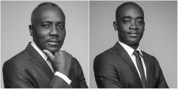 Fabien Lawson (à gauche) et Fortuné Ahoulouma, Docteurs en droit, avocats au Barreau de Paris, co-fondateurs du cabinet d'avocats d'affaires LABS-NS (Crédits : LABS-NS/LTA)