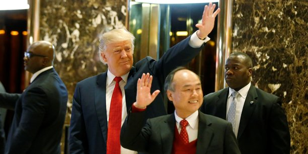 Masayoshi Son et Donald Trump, ce mardi à New York.