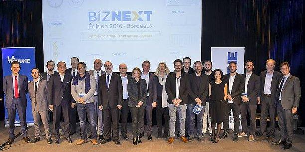 L'édition 2016 de Biznext a distingué Acteon, M.Tshirt, Amplitude Systèmes, Prof en poche, Helper Drone et Asobo Studio.