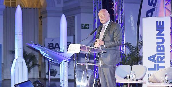 Alain Rousset lors de la dernière édition des Trophées de l'aéronautique, de La Tribune à Bordeaux.