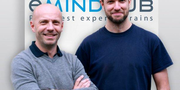 Nicolas Muller et Yoann Babel, les cofondateurs d'EMindHub.