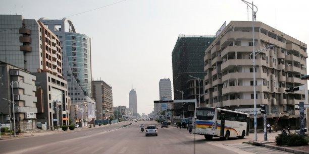 Les avenues désertées de Kinshasa en ce 19 décembre 2016