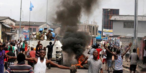 Les opposants manifestent à Kinshasa ce 20 décembre 2016, contre le coup d'Etat institutionnel qu'ils imputtent à Joseph Kabila.