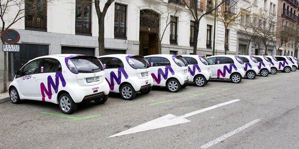 Les Citroën C-Zéro sont des voitures 100% électriques. Le parc emov de Madrid sera constitué de 1.000 voitures à terme.
