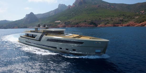 Dessiné par Clément Carbonne, le nouveau 38 mètre de la collection lounge a suscité l'intérêt des clients potentiel lors d'une réception privée au Yacht Club de Monaco. Chantier Naval Couach espère concrétiser les premières ventes au plus vite.