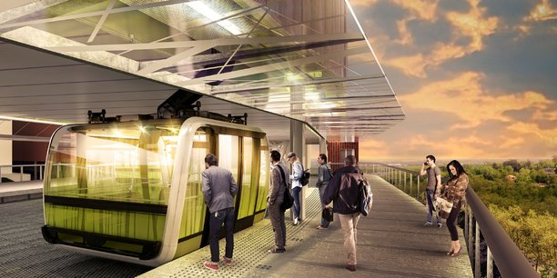 Vue d'architechte de la future station du CHU.