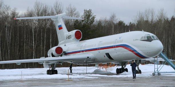 Un Tupolev Tu-154 sur le tarmac de l'aéroport militaire Chkalovsky, dans le nord de la Russie, le 15 janvier 2015.