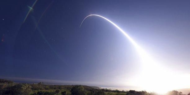 La sortie américaine du traité FNI offre de nouvelles options stratégiques à Washington dans la perspective de la compétition qui se joue avec Pékin, avait estimé en mai Emmanuel Puig, conseiller Asie à la direction générale des relations internationales et de la stratégie du ministère de la Défense (photo : tir d'un missile nucléaire américain)