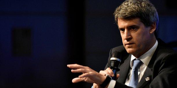 Alfonso Prat-Gay lors de la réunion annuelle du FMI et de la Banque mondiale à Washington, le 6 octobre.