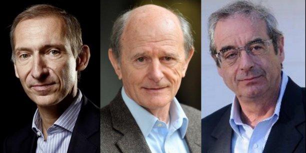 De gauche à droite, Nicolas Baverez, avocat-essayiste, Jean-Louis Etienne, médecin-explorateur et Pascal Picq, paléoanthropologue.