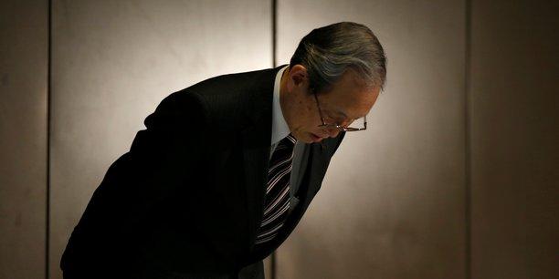 Le Pdg de Toshiba Satoshi Tsunakawa lors de la conférence de presse du 27 décembre 2017.