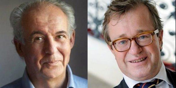 De gauche à droite, Olivier Faron, administrateur du Cnam et Roger-Pol Droit, philosophe,