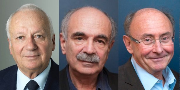 De gauche à droite, Jean-Marie Cavada,député européen ; Michel Wieviorka,sociologue et Dominique Wolton,sociologue
