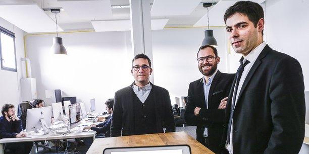 Olivier Simon, président et fondateur de Graphiworks, David Armandie, directeur commercial, et Adrien Renard, directeur technique