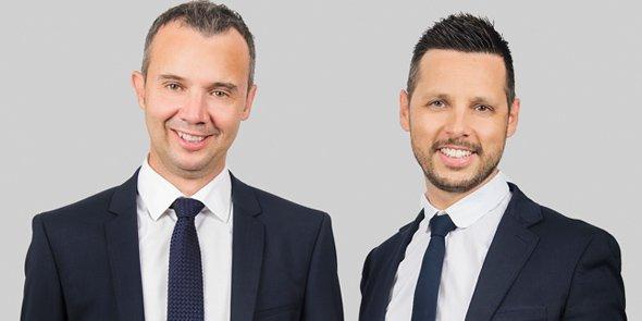 Frédéric Salles et John Aldon, cofondateurs de Matooma