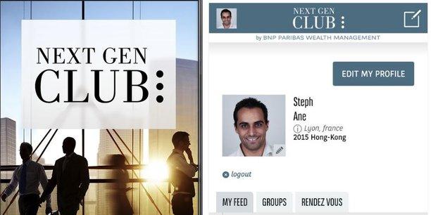 La banque privée de BNP Paribas a lancé une appli Next Gen Club destinée à connecter entre eux les héritiers des grandes fortunes.