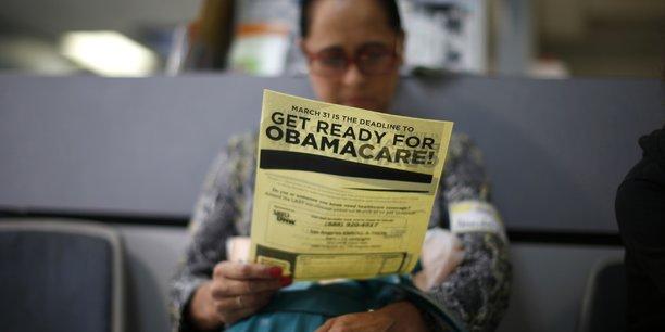 La loi Obamacare est entrée en vigueur le 1e janvier 2014 aux Etats-Unis (Californie, Etats-Unis, le 27 mai 2014).
