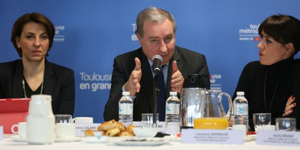 Jean-Luc Moudenc lundi 16 janvier lors de ses vœux à la presse