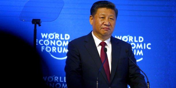 Le président chinois Xi Jinping lors de l'ouverture du Forum économique mondial à Davos, le 17 janvier 2017.