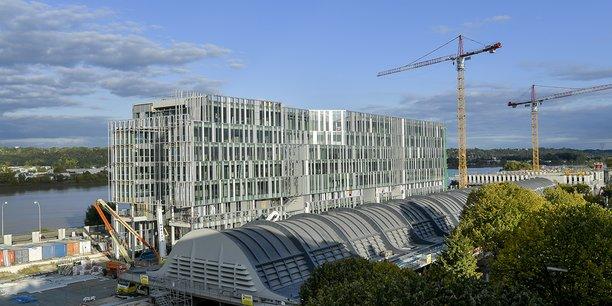 Le marché du bureau neuf est dopé par les nouveaux programmes, comme celui d'Euratlantique (notre photo).