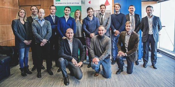 Les candidats de la région Nord-Est lors de la sélection du Prix La Tribune Jeune Entrepreneur, à Lille, le mercredi 18 janvier 2017.