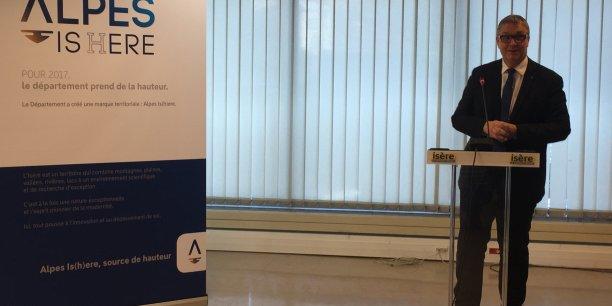 Le président du conseil départemental, Jean-Pierre Barbier, a présenté la nouvelle marque, Alpes Is(h)ere.