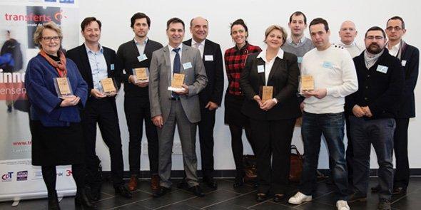 Les lauréats des COSTI 2016, récompensés par Transferts LR le 20 janvier 2017 à Montpellier.