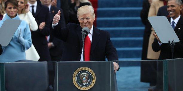 Donald Trump lors de la cérémonie d'investiture.