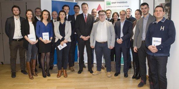 Les vainqueurs et nominés du PLTJE 2017 dans la région Centre-Est, vendredi 20 janvier à Lyon.