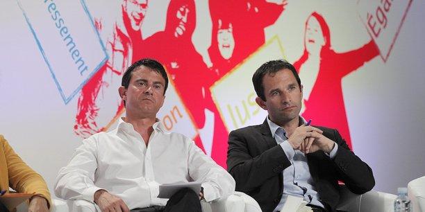 Manuel Valls et Benoît Hamon en août 2012.