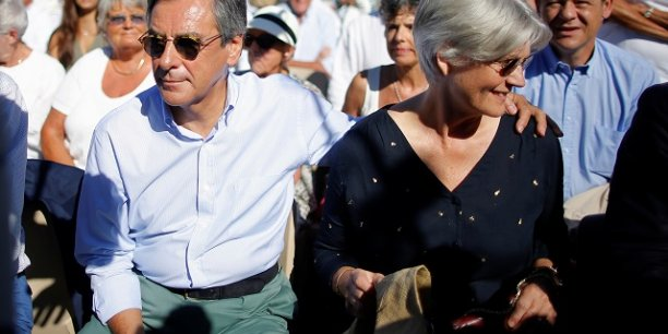 François et Penelope Fillon à la Baule en 2016.
