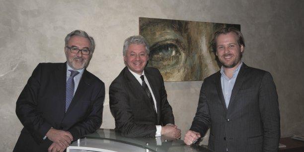 Erick Roux de Bézieux, Thomas Marko et Benoît Terrière.
