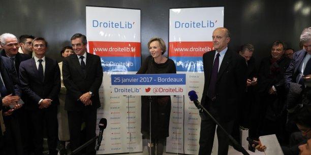 Virginie Calmels a lancé à Bordeaux son mouvement DroiteLib' aux côtés de François Fillon et Alain Juppé.