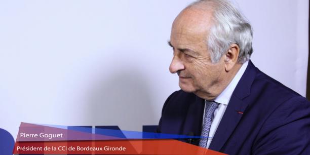 Pierre Goguet, président de la CCI de Bordeaux Gironde, est également président de l'Association des CCI métropolitaines.
