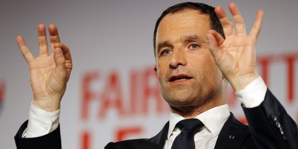 Benoît Hamon lors de la campagne pour la primaire citoyenne en janvier 2017.