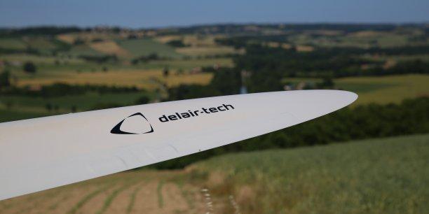Aile d'un drone fabriqué par Delair-Tech