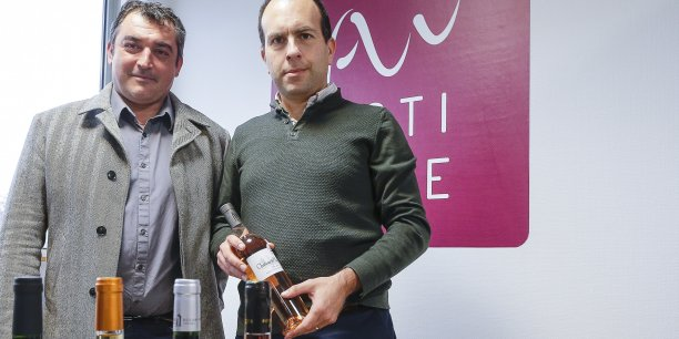 Benoit Routurier et Eric Lévy, cofondateurs de la place de marché 100 % pros Actiwine