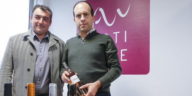 Benoit Routurier et Eric Lévy, cofondateurs de la place de marché 100 % pros Actiwine, qui propose un nouveau débouché pour le viticulteur et une nouvelle façon de se sourcer pour l'acheteur.