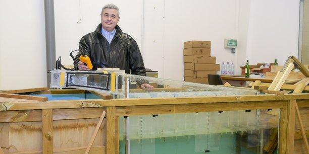 Jean-Luc Stanek, fondateur d'Hydro Air Concept Energie (Hace), a mis au point un système pour produire de l'électricité à bas coût, non intermittente, à partir de l'énergie des vagues.