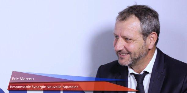 Eric Marcou est le responsable en Nouvelle-Aquitaine de Synergie, groupe qui intervient dans le  recrutement, le travail temporaire, la formation et le conseil.