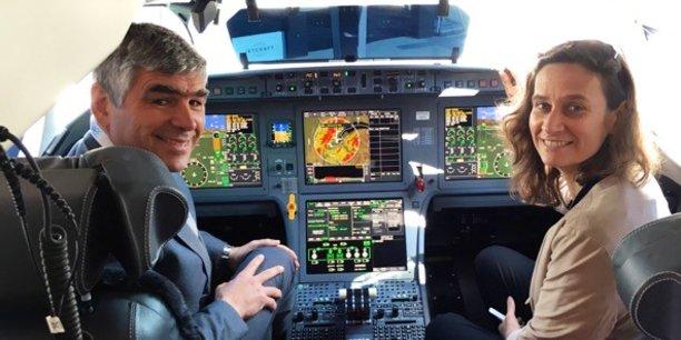 Philippe Borghini, directeur des opérations, et Krista Vandermeulen, en charge du développement de Airways College