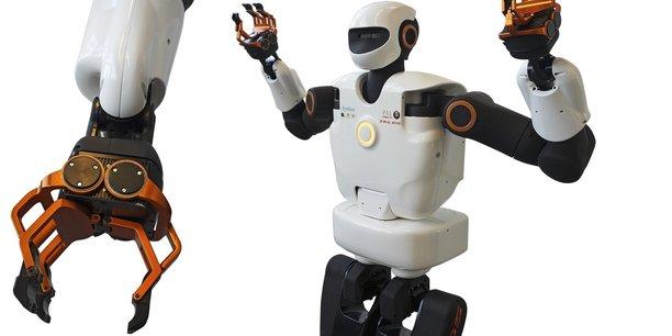 Pyrène, un robot bipède de 1,75 m