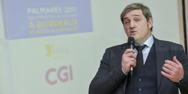 Olivier Foix, vice-président de CGI France, 3e du top 100 du Palmarès des entreprises qui recrutent à Bordeaux et dans sa métropole en 2017.