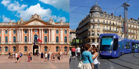Les réseaux de Toulouse et Montpellier, selon l'Insee, sont respectivement tournés vers Bordeaux et Aix-Marseille