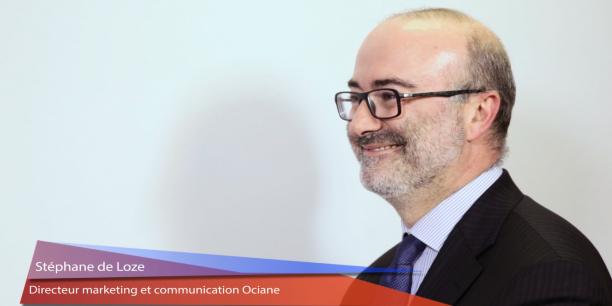 Stéphane de Loze, directeur marketing et communication d'Ociane