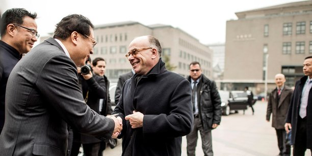 Rencontre du vice-ministre de l'Education chinois, Hao Ping et du Premier ministre français, Bernard Cazeneuve à Pékin.