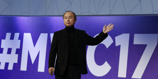 Masayoshi Son, le patron et fondateur de Softbank, au Mobile World Congress de Barcelone.